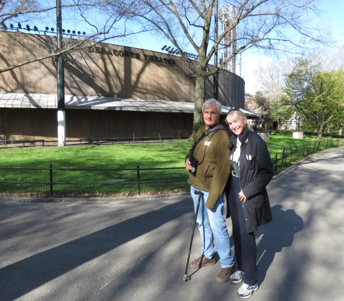 Pete Dunne and Jamie Koufman at Delacorte Theater A 4-28-15 jamiesbirds